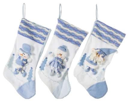 Чулок для подарков Holiday Classics L11012 Белый, голубой