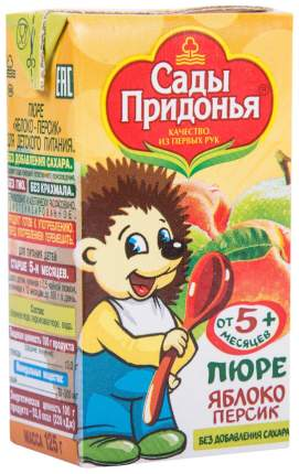 Пюре фруктовое Сады Придонья Яблоко-персик с 5 мес 125 г
