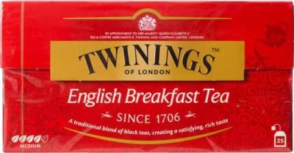 Чай черный Twinings english breakfast 25 пакетиков