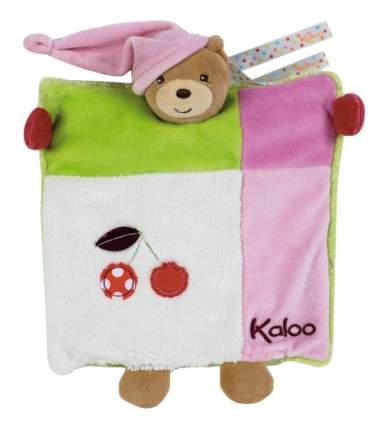 Мягкая игрушка Kaloo Комфортер Цвета Мишка с Вишнями 20 см K963280