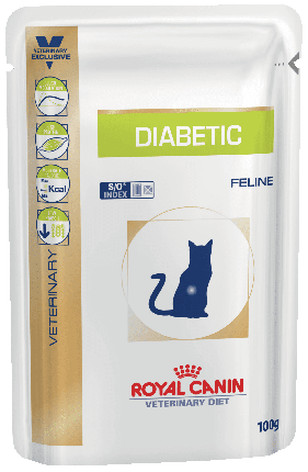 Влажный корм для кошек ROYAL CANIN Vet Diet Diabetic, домашняя птица, свинина, 12шт, 100г
