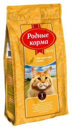 Сухой корм для кошек Родные корма, курица, 0,409кг