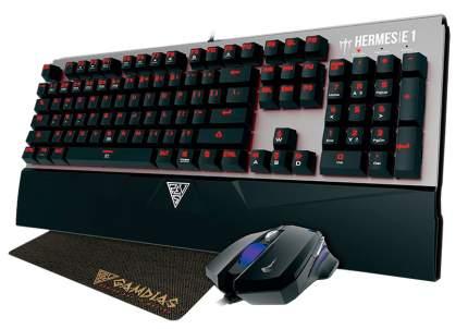 Комплект клавиатура и мышь Gamdias HERMES E1 Cherry MX Black