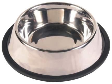 Одинарная миска для кошек и собак TRIXIE, резина, сталь, серебристый, 0.9 л