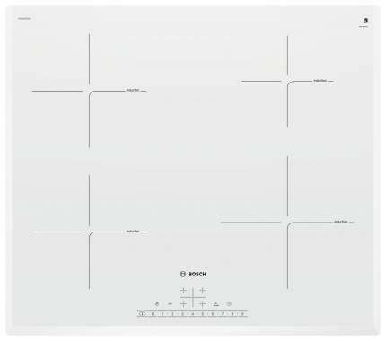 Встраиваемая варочная панель индукционная Bosch PUE652FB1E White