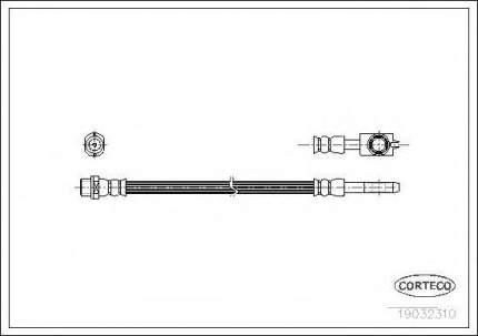 Шланг тормозной Corteco 19032310