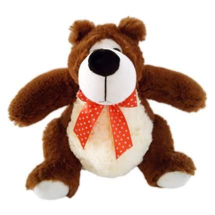Мягкая игрушка ABtoys Медведь коричневый, 23 см