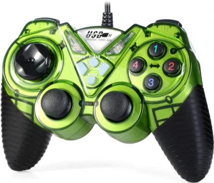 Геймпад Double Shock Controller USB-908 Green