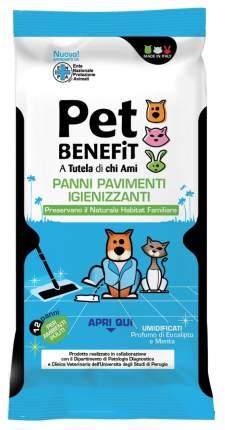 Влажные салфетки для уборки за животными Pet Benefit, очищающие, 12шт