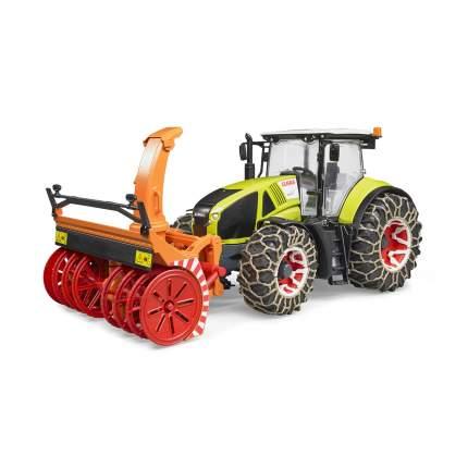 Трактор Bruder Claas Axion 950 c цепями и снегоочистителем 03-017