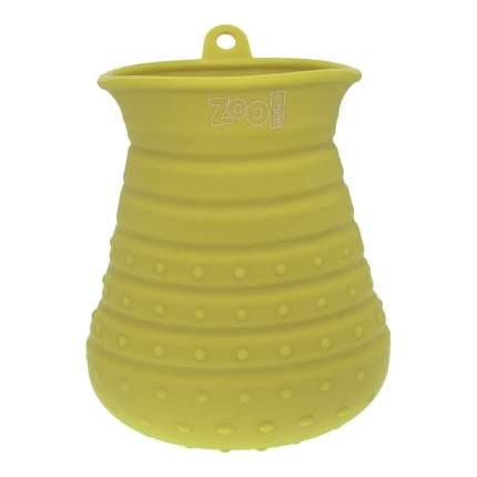 Лапомойка для собак ZooOne 21032 большая, силикон, желтый
