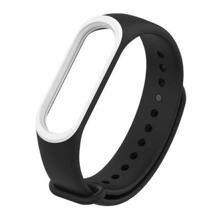 Ремешок силиконовый Mijobs Silicon Dual Color для Mi Band 3/4 Black/White D307