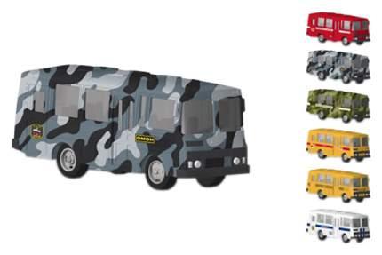 Автобус Технопарк Металлический Инерционный С Открывающейся Дверью