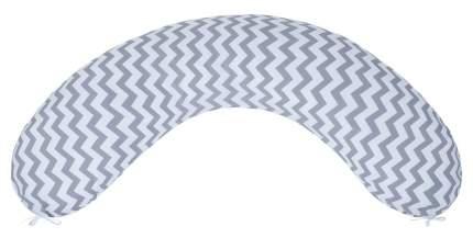 Подушка для беременных AmaroBaby 170х25 (Зигзаг вид серый)