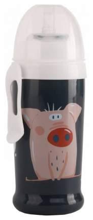 """Поильник для кормления """"Happy Baby"""", с трубочкой и прищепкой (цвет: smoky), 360 мл"""