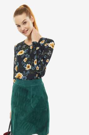 Блуза женская MORE & MORE 91092000 4790 синяя 34 DE