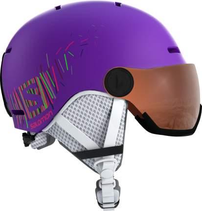 Горнолыжный шлем Salomon Grom Visor 2019 purple mat, S