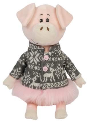 """Мягкая игрушка """"Свинка Ниночка в пальто с оленями"""", 22 см"""