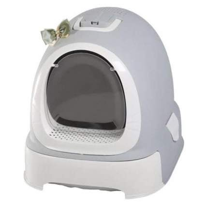 Туалет для кошек Naturel N1 Мак 100, прямоугольный, серый, 55х42х43 см