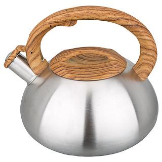 Чайник для плиты WEBBER BE-0588/1, со свистком, нержавейка  (12)