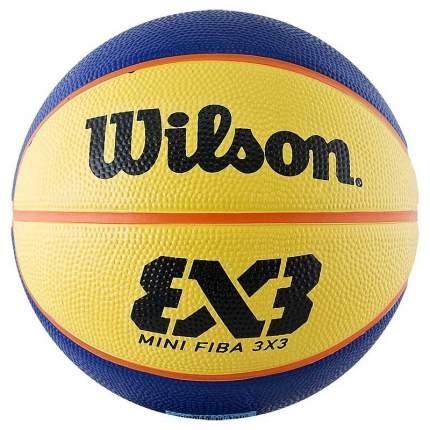 Баскетбольный мяч Wilson FIBA 3x3 Mini Rubber Basketball №3 blue/yellow