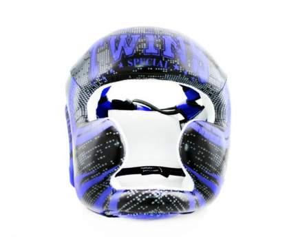Боксерский шлем Twins FHGL3-TW5 черно-синий