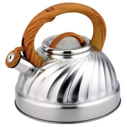 Чайник для плиты ALPENKOK AK-502/1, со свистком, нерж, дерево 3,0л (индукция) (12)