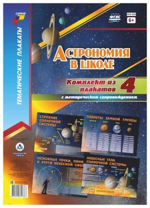 Комплект плакатов Астрономия в школе: 4 плаката с методическим сопровождением (Формат А2)