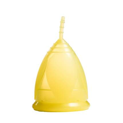 Менструальная чаша Тюльпан желтая размер S