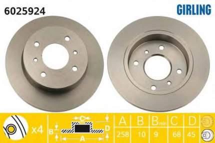 Тормозной диск GIRLING 6025924
