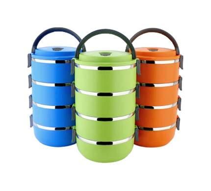Ланч-бокс Kamille 2107А Зеленый, оранжевый, синий