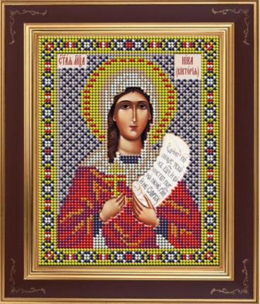 Вышивка бисером Galla Collection М275 Св.мученица Ника (Виктория) 12х15 см
