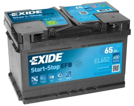 Аккумулятор автомобильный EXIDE Start-Stop Efb EL652 12v 65ah 650a B13