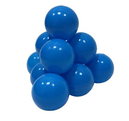 Шарики в наборе для игрового бассейна 50 шт, диам 7см, голубые