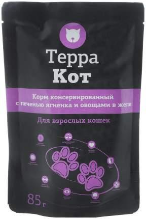 Влажный корм для кошек ТЕРРА КОТ, печень, 26шт, 85г