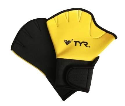 Перчатки для аквааэробики TYR Aquatic Resistance Gloves LAQGLV желтые S