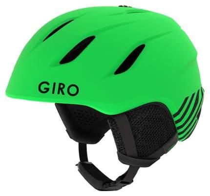 Горнолыжный шлем детский Giro Nine Jr 2019, зеленый, M