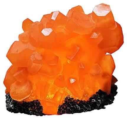 Декорация для аквариума Hydor Оранжевый Цитрин с подсветкой, полиэфирная смола, 16х7х14 см