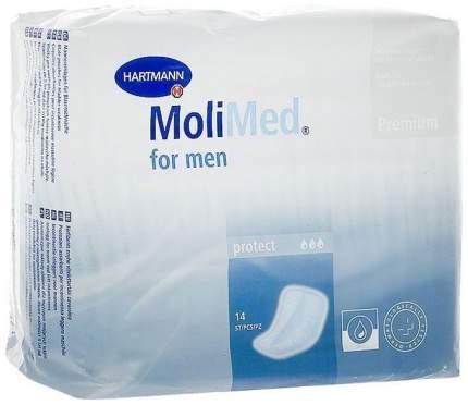 hartmann molimed premium for men active урологические прокладки 14 шт /12