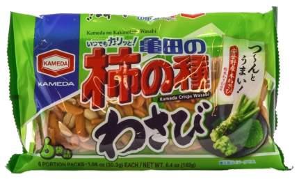 Рисовые снэки Kameda kakinotane wasabi с васаби и арахисом 182 г