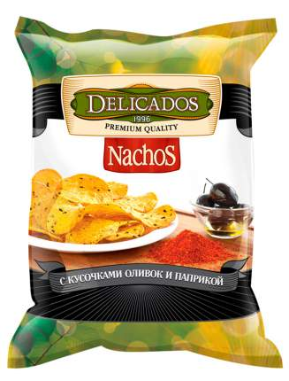 Чипсы кукурузные Delicados nachos с оливками и паприкой 150 г