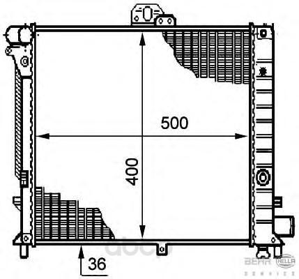 Радиатор охлаждения двигателя Hella 8MK376708-781