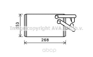 Pадиатор печки  Peugeot 4007, Citroen C-Crosser 07 Ava MT6259