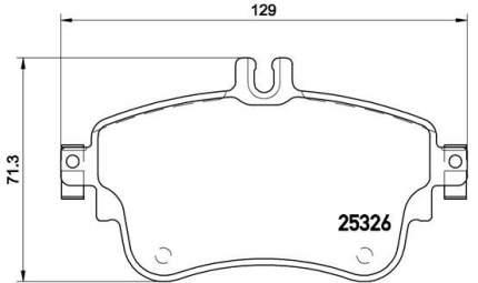 Комплект тормозных дисковых колодок brembo P 50 094