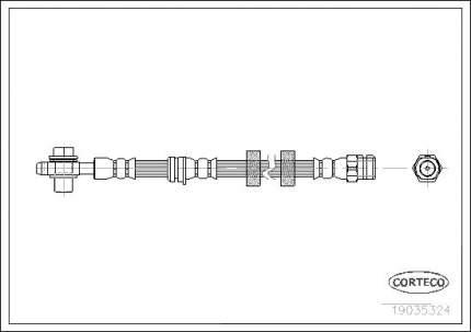 Шланг тормозной CORTECO 19035324