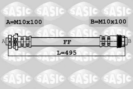 Шланг тормозной SASIC 6604030