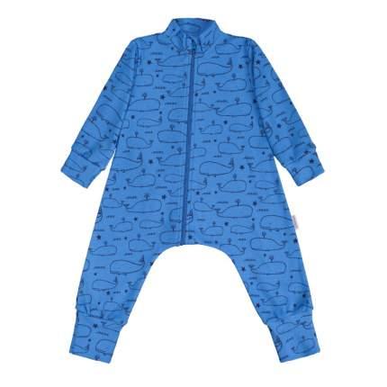 Комбинезон-пижама Bambinizon Голубой ЛКМ-БК-КИТ р.68