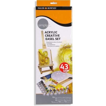 Акриловые краски Daler Rowney Creative Easel Simply 12 цветов