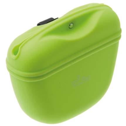 Сумка для лакомств V.I.Pet силиконовая с магнитным замком, салатовая, 12х4х10 см