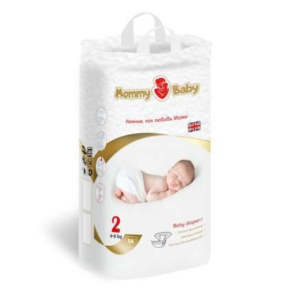 Подгузники детские одноразовые Mommy Baby (размер 2), 4-8 кг, 56 шт.